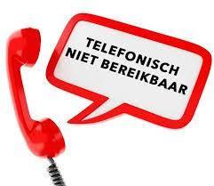 Momenteel telefonisch niet bereikbaar