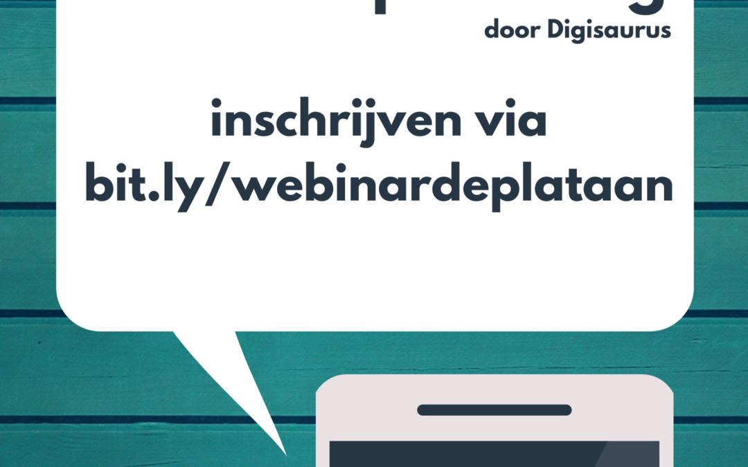 Webinar #mediaopvoeding door Digisaurus